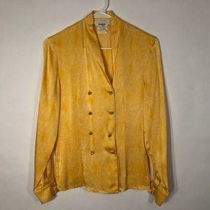 vintage Escada Miss Jackson Tulsa Blouse Silk 567